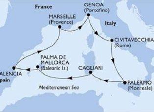 Fantasia, Mediterranean ex Genoa Return