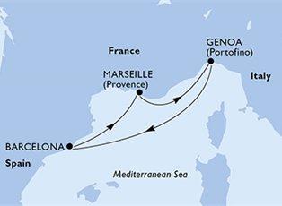 Divina, Italy, France & Spain ex Genoa Return