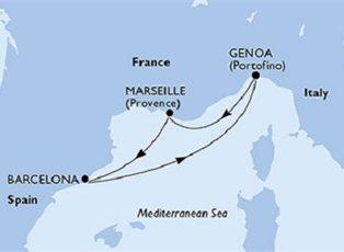 Poesia, France, Spain & Italy ex Marseille Return