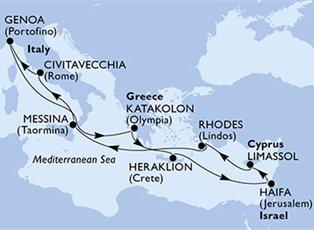 Opera, Mediterranean Cruise ex Rome Roundtrip