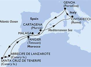 Opera, Mediterranean ex Genoa Return