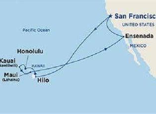 Ruby, Hawaiian Islands ex San Francisco Roundtrip