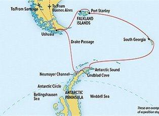 Endurance, Antarctica South Georgia & Falklands ex Buenos Aires to Ushuaia