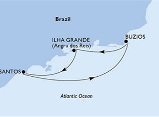 Preziosa, A South America Cruise ex Santos Return
