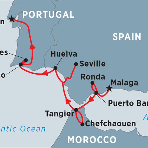 Cruising Spain, Portugal & Morocco: Malaga to Lisbon