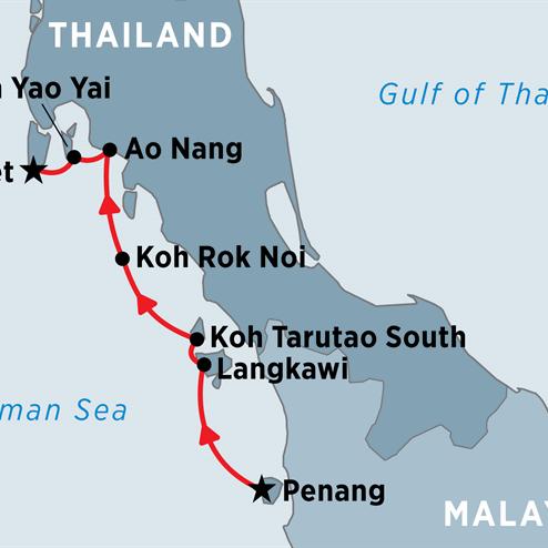Cruising Thailand & Malaysia: Penang to Phuket