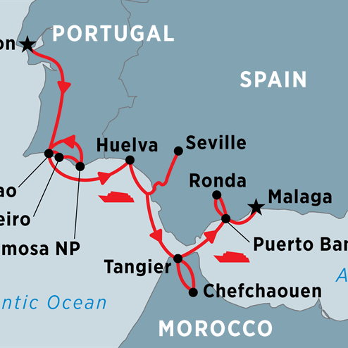 Cruising Spain, Portugal and Morocco: Lisbon to Malaga