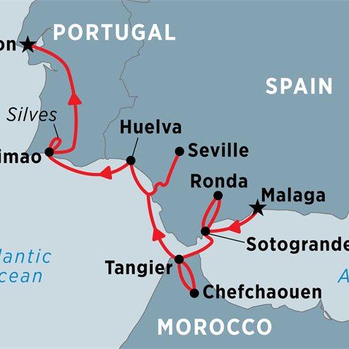 Cruising Spain, Portugal & Morocco: Malaga to Lisbon