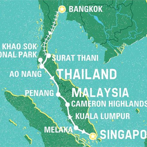 Discover Bangkok to Singapore
