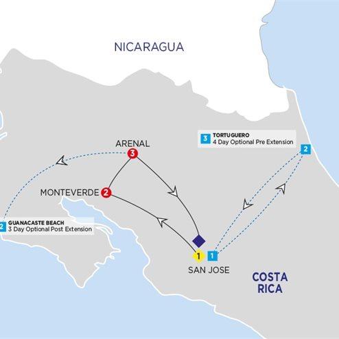 Costa Rica Adventure with Tortuguero Extension Summer 2019