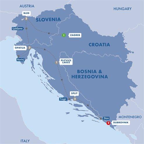Best of Croatia and Slovenia Summer 2019