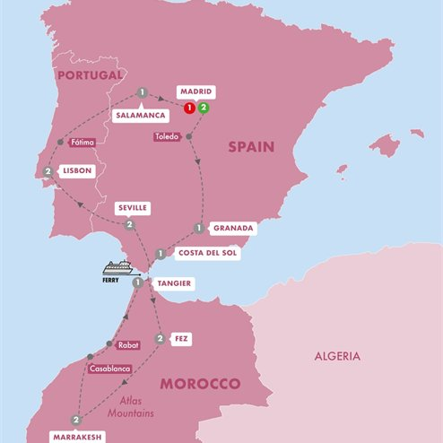Spain Morocco and Portugal Summer 2019