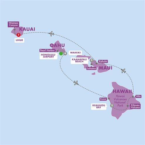 Hawaii Four Island Adventure First Class Summer 2019